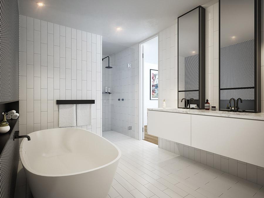 The Burcham - Apartment Bathroom