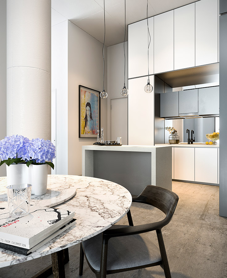 The Burcham - Apartment Kitchen